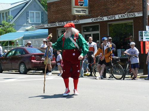 Trail Days - Hiker Parade - Santa (Far)