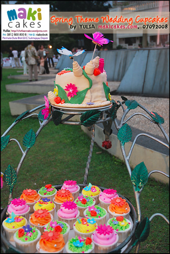 Spring Wedding Cupcakes_ - Maki Cakes