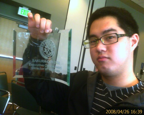 Eugene with his relations award