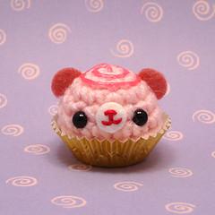 Amigurumi Cherry Swirl bon bon bear candy