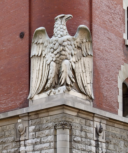 Anheuser-Busch Brewery, in Saint Louis, Missouri, USA - Eagle carving 2