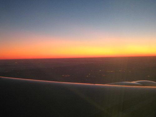 Sunrise over France