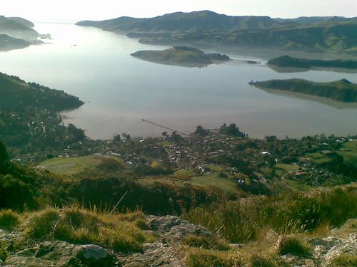 Lytellton Harbour from Trig V