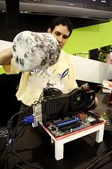 Computex Abit攤位超頻示範