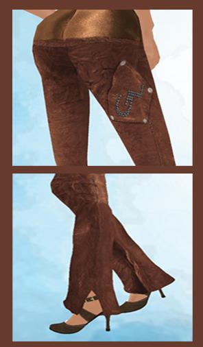 Leather Pant  -back pocket & prim pant legs