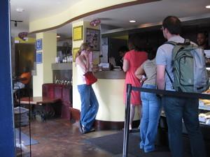 Line at Love Cafe