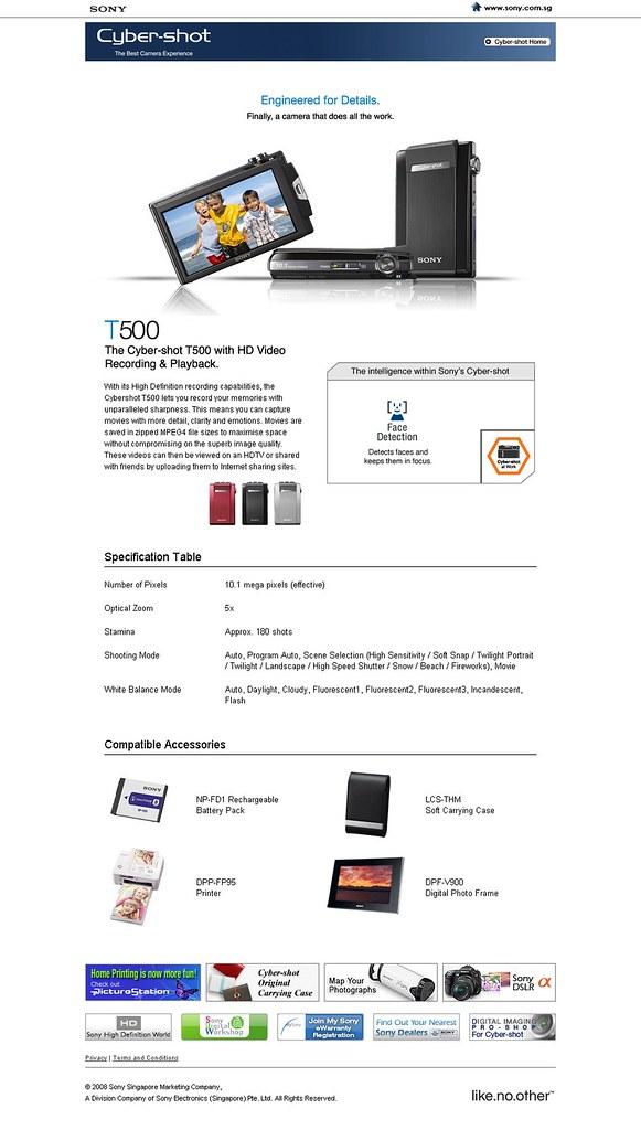 Sony Cyber-shot T500
