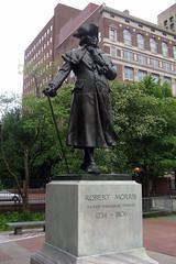 Philadelphia - Old City: Robert Morris statue