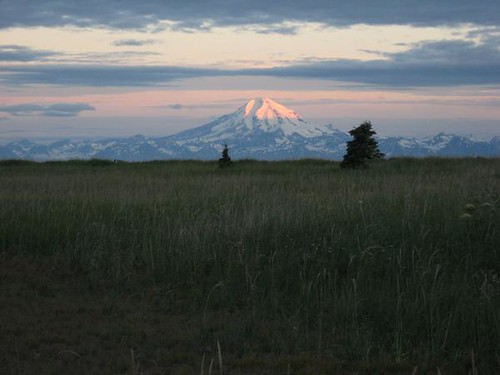 Mt Redoubt at 3 a.m.