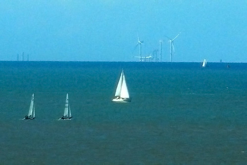 C-Power wind turbines on the Thorntonbank