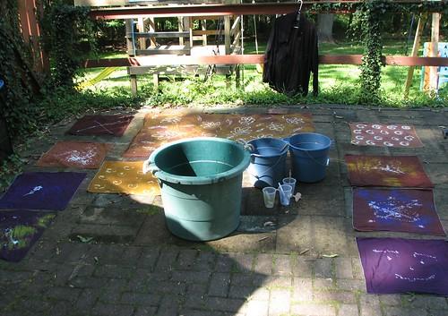 Faux batik project