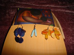 earrings and card