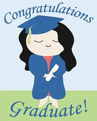 Custom Graduation Print - Girl