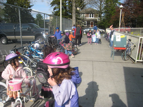 Bike to School Month Day One