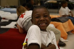 Harold James Jr age 7 poses at Cleburne Shelter