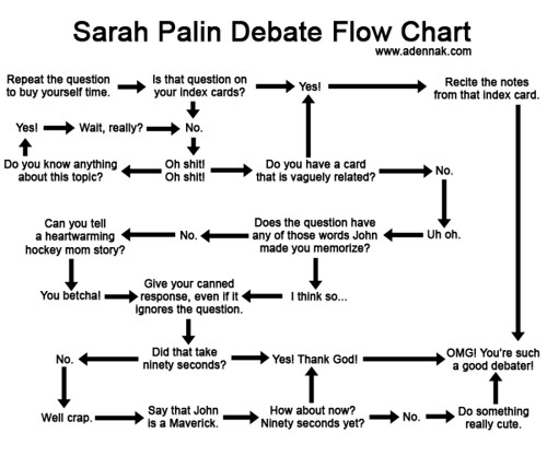 Sarah Palin Debate Flow Chart.