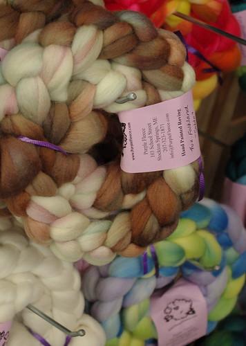 Purple Fleece braids