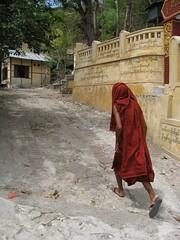 u jabana (mr. quick in burmese) leading us through monastery/nunnery lanes in sagaing