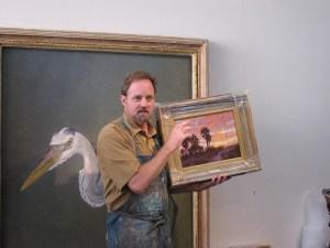 Christopher Still explains his Original Artwork in his Studio