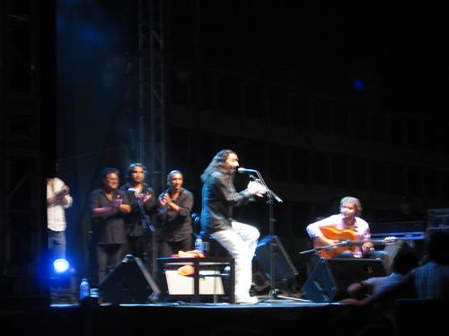 Diego el Cigala en la Corredera Noche Blanca 2008.