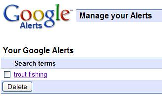 Google Reader - Manage Google Alerts