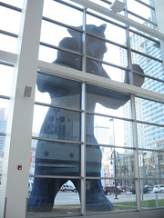 View of bear from inside the Denver Convention Center