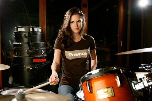 Mostly Lisa on Drums! Rockin' Pownce.