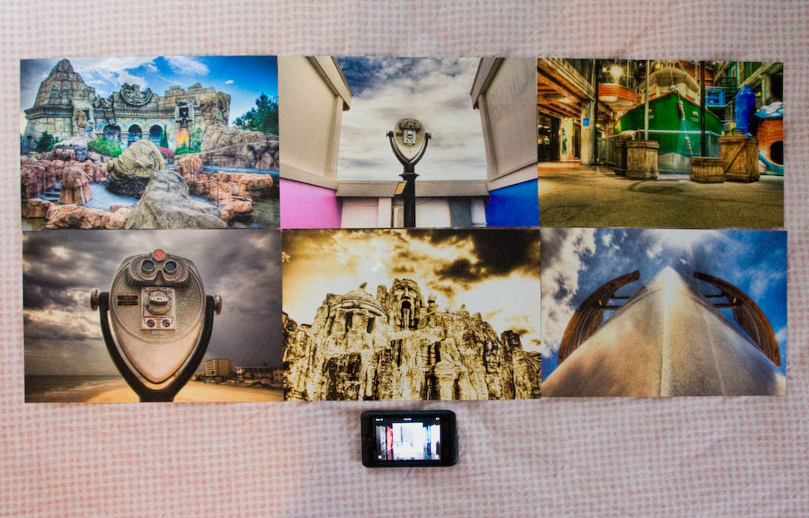 six HDR prints