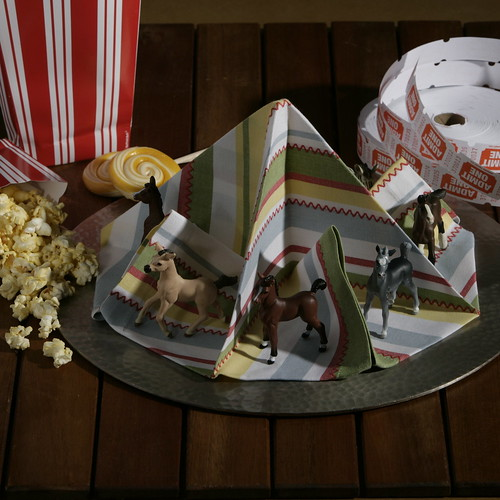 Napkin Origami Carousel