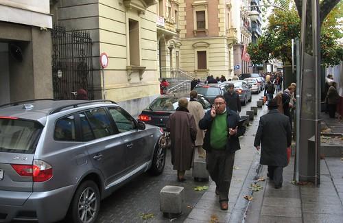 Zona peatonal en Córdoba. Boulevard Gran Capitan.