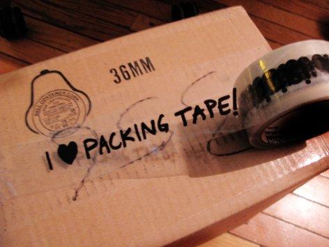 I love packing Tape