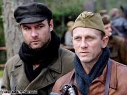 Liev Schreiber and Daniel Craig in Defiance.