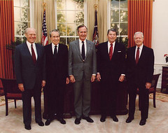 Presidents standing, politicians, oval office, elected officials, former presidents, former government,