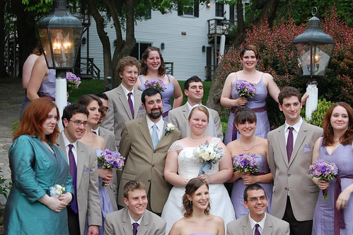 The Happy Bridal Party, right after the ceremony!