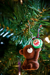 teddy bear w/ ornament
