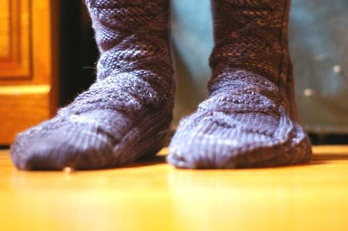 xmas socks me in them