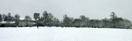 St Albans and its citizens on a wintry day