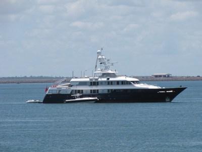 Motor Yacht Helios in Darwin Harbour February 2009
