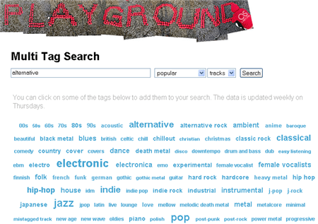 Last.fm Multi Tag Search