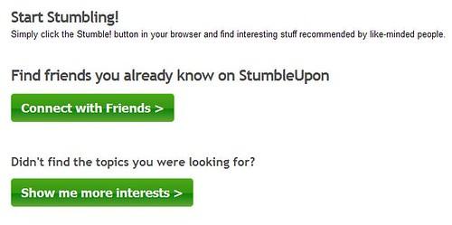 StumbleUpon - Start Stumbling