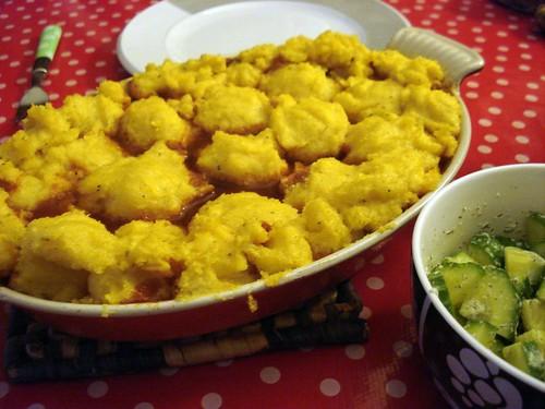 Chili polenta bake