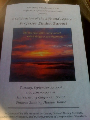 The cover of the memorial pamphlet