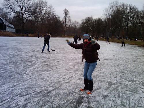 Frozen pond in Amsterdam