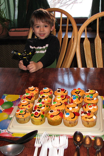 Birthday Boy and his Monster Cupcakes