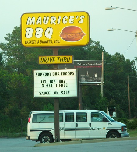 Maurice's BBQ, Columbia SC by you.