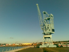 Medway Crane In Winter