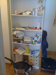 next cluttered-up space in the zone