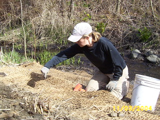 Erosion blanket installation