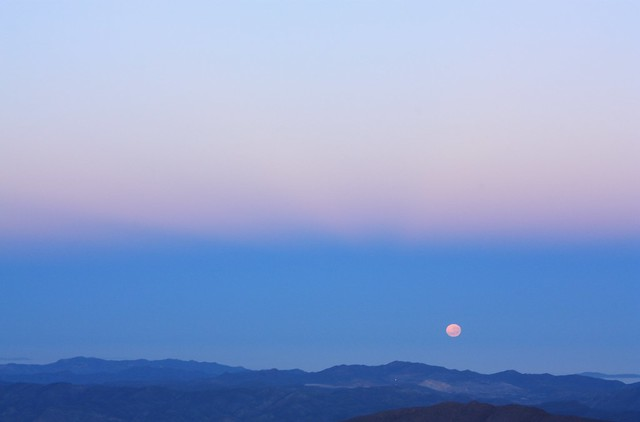 Moonset, Andacollo, Gemini South, Cerro Pachon, Chile
