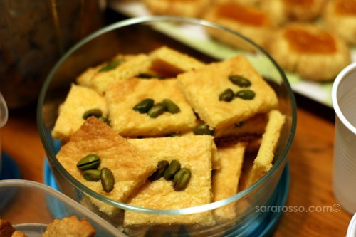 Sablés with pistachios from Pierre Herme's Cookbook for Holiday Cookie Swap